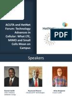 HetNetForum - Techonlogy Advances in Cellular -LTE_MIMO_Small-Cells