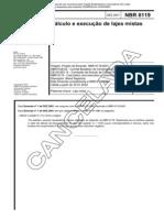 NBR 06119 NB 4 - Calculo e Execucao de Lajes Mistas - Norma Cancelada