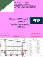 Projektiranje zgrada Karakteristični presjek 1