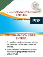 Programacion Lineal Entera