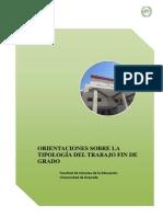 Directrices Marzo 2014 TFG Primaria