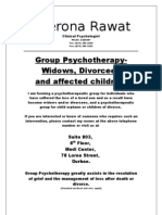 Group Psychotherapy- Divorce