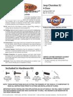 Bushwacker Jeep Cherokee XJ - Pocket Style Fender Flares Installation Manual.pdf