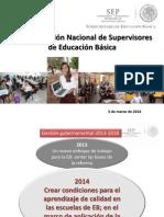 4ta Reunión Nacional Supervisores. Encuadre. Profra. Martínez O. Alba.