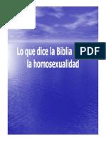 Lo Que Dice La Biblia Sobre La Homosexualidad