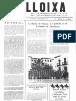 LLOIXA. Número 17, noviembre/novembre 1982. Butlletí informatiu de Sant Joan. Boletín informativo de Sant Joan. Autor