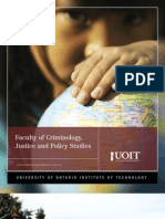 2010-2011 Faculty of Criminology Justice and Policy Studies Viewbook