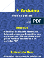 PHP + Arduino