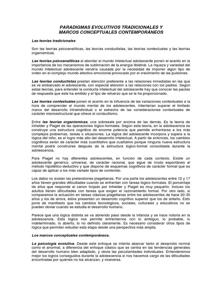 Paradigmas Evolutivos Tradicionales y Marcos Conceptuales ...