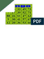 Bingo Cuadro Normal
