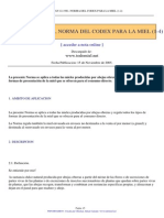 Codex Stan 12 1981 Norma Del Codex Para La Miel