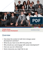 Careers Work in the Sixth Form