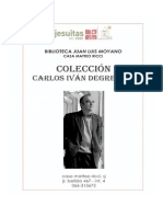 CATALOGO COLECCION CARLOS IVAN DEGREGORI