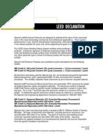 Special-Lite LEED Declaration