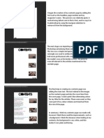 Contents Page Progress