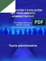 Introducción y Evolución del Pensamiento Administrativo