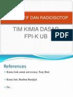 Penggunaan Radioaktif Dan Radioisotop