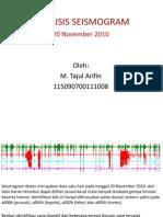 Analisis Seismogram Fix