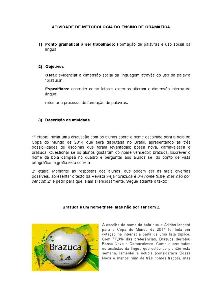 ATIVIDADE DE GRAMÁTICA 13ef74482d176