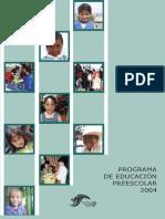Programa de Educación Preescolar PEP 2004