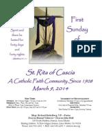 St. Rita Parish Bulletin 3/9/2014