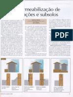 Impermeabilização de fundações e subsolos