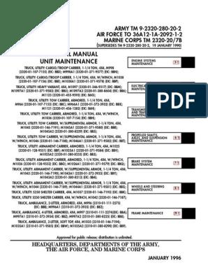 TM-9-2320-280-20-2 HMMWV Unit Maintnance Vol 2 | Tire | Humvee on