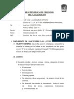 Informe de Implementacion y Ejecucion