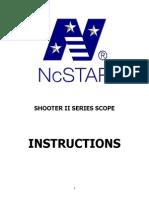 NcSTAR Shooter II Instructions