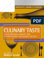 Culinary Taste Consumer Behaviour in the International Restaurant Sector