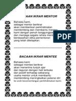 Broshure Mentor Mentee 2014