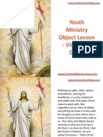 Youth Ministry Object Lesson - Visions of Christ