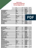 Lista de Libros 2013