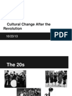 cultural change after revolution