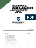 BIG PPG Panduan Dan Jadual PelaksanaanPPG10JAN2012