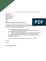 Formal Letter Request for Bones