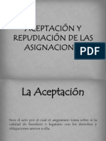 ACEPTACIÓN Y REPUDIACIÓN DE LAS ASIGNACIONES (1)