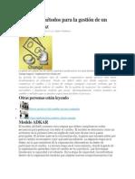 Modelos y métodos para la gestión de un cambio eficaz