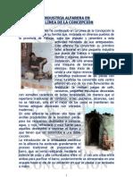 INDUSTRIA ALFARERA EN LA LÍNEA DE LA CONCEPCIÓN