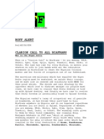 BOFF (Biafra Organization of Freedom Fighters) Alert