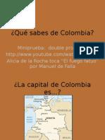 ¿Qué Sabes de Colombia?