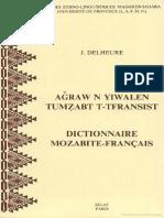 Aǧraw n Yiwalen Tumẓabt T-Tfransist - Dictionnaire Mozabite-Francais - Jean Delheure
