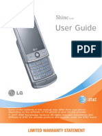LG Shine User Manual