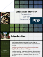 edu 637 literature review - terry gallivan