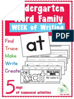 Word Family Week of Writing at Family Kinder Print Able Booklet