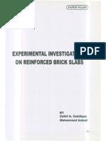 Reinforced Brick Slab