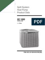 Trane Heat Pump XE1000