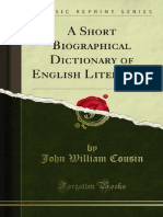 A Short Biographical Dictionary of English Literature 1000253406