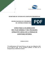 Guia Para La Elaboracion Del Plan General y POA de La UAI