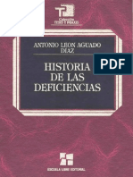 Historia de Las Deficiencias